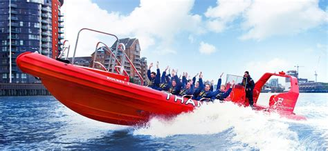 thames river voyages 50 minute canary wharf powerboat experience for adults
