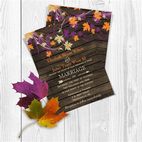Fall Theme Wedding Invitations by Printable Wedding Invitation Template Fall Wedding