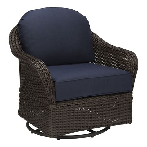 allen roth mcaden set   wicker steel swivel glider