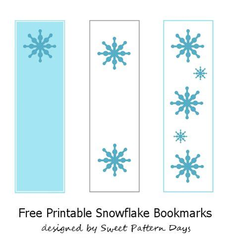 Printable Snowflake Bookmarks | bookmarks snowflakes and free printable on pinterest