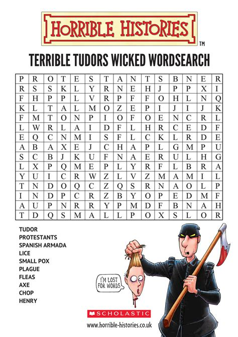 How To Do A Free Asset Search Horrible Histories Wordsearch Scholastic Club
