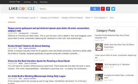 theme google today top 3 wordpress theme similar to google search google news