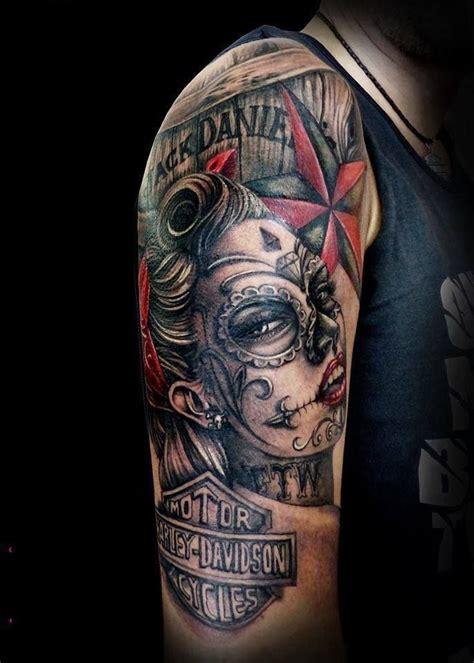biker sleeve tattoo designs best 25 motorcycle tattoos ideas on biker