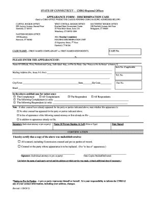 chro appearance form fill online, printable, fillable