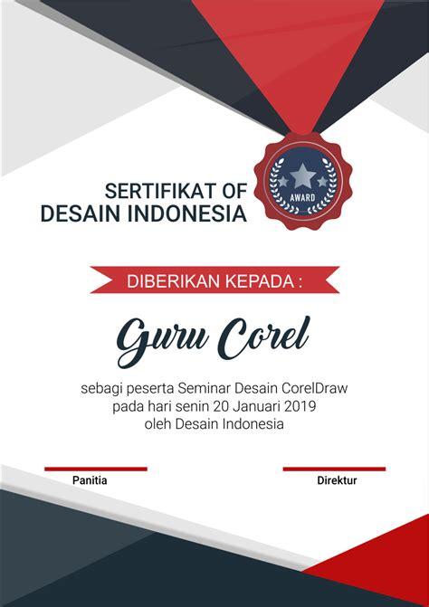tutorial corel draw sertifikat cara membuat sertifikat kegiatan seminar dengan coreldraw