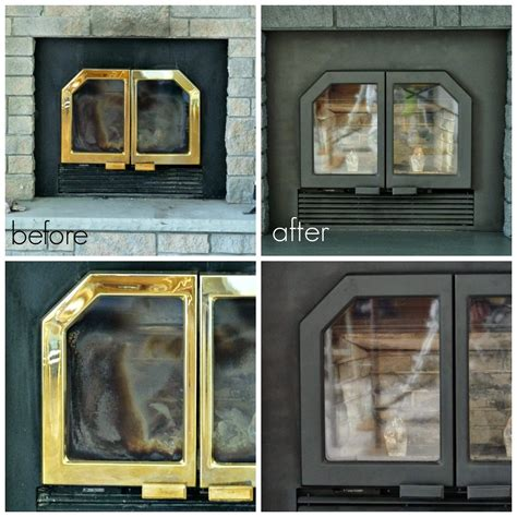 Garage Makeovers by Painted Fireplace Doors And Vents Dans Le Lakehouse