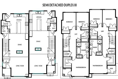 semi detached house floor plan duplex for small lot joy studio design gallery best design