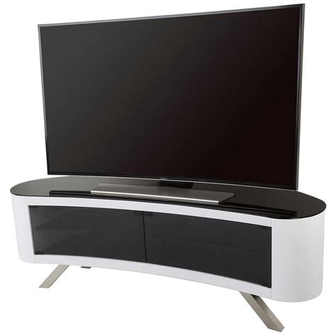 Tv Cabinet White Smf avf bay curved tv stand in white