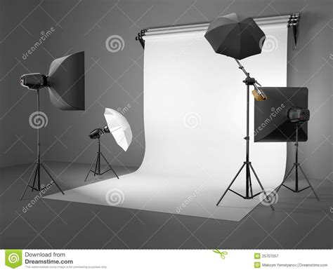 studio lighting equipment for portrait photography photo studio equipment space for text royalty free stock