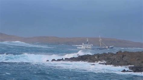 fishing boats in rough seas videos fishing boat in rough seas at hamavoe shetland youtube
