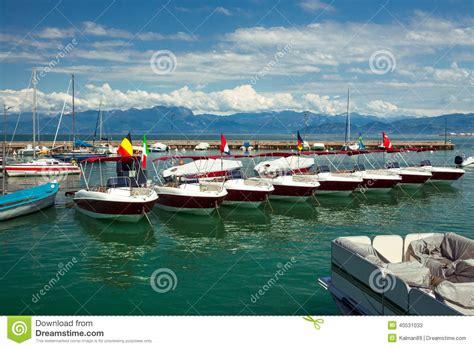 boat rental garda lake garda lake boats stock photo image 40531033