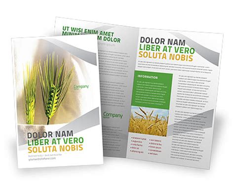 agriculture brochure templates work on the farm brochure template design and layout