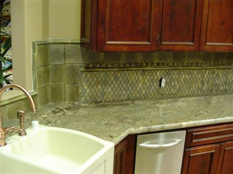 Kitchen Backsplash Green by Green Kitchen With Granite And Tile Backsplash Stocker Tile