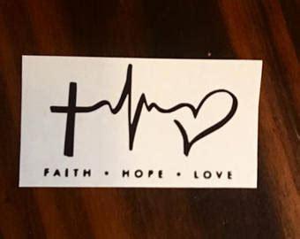 heartbeat tattoo with cross heartbeat tattoo etsy