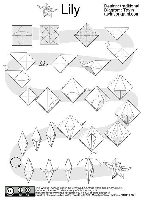 Origami Patterns Pdf - origami flower tavin s origami