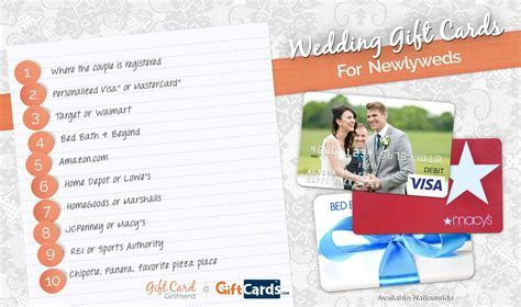 Top 10 Wedding Gift Cards to Buy for Newlyweds   Wedding