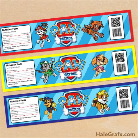 printable paw patrol party decorations free printable paw patrol water bottle labels little