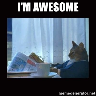 Im Awesome Meme - i m awesome i should buy a boat cat meme generator