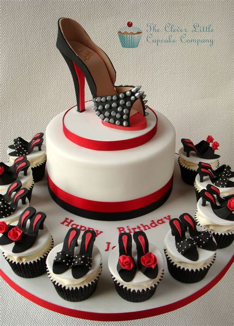Happy 50th Birthday Chanel Shoes by Louboutin Shoe Cake Cake Birthday Cakes And Shoe Cupcakes