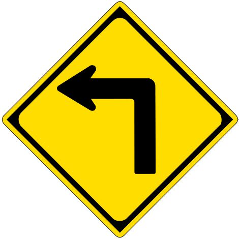 st on left or right flashcards table on driving signals