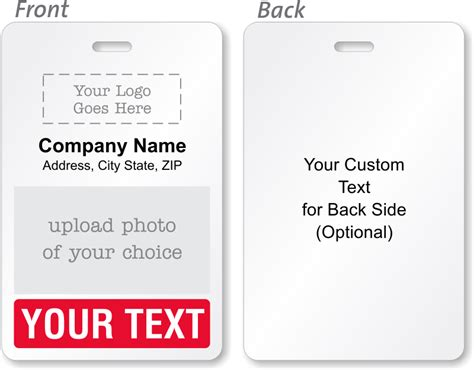 printable custom id cards custom bi fold badges add text logo artwork info