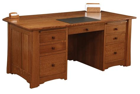 Mission Style Desks For Home Office Jamestown Executive Desk From Dutchcrafters Amish Furniture