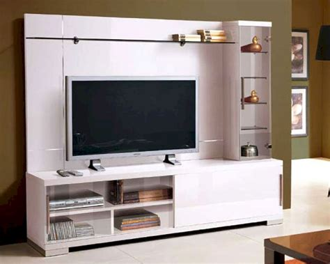 contemporary lacquered tv wall units with white theme in modern italian entertainment center in white 33e21