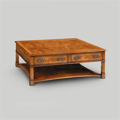 iain furniture amc294 walnut 4 drawer wide coffee table
