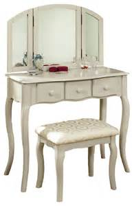 Makeup And Vanity Set Remember Tri Folding Mirror 3pc Wood Make Up Table Padded Bench