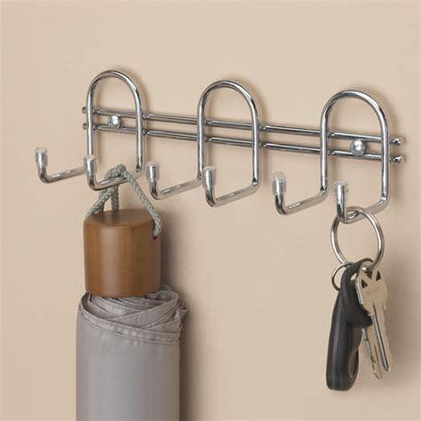 Closetmaid Hooks Closetmaid 6 Quot Wire Hook Organizer Chrome Walmart