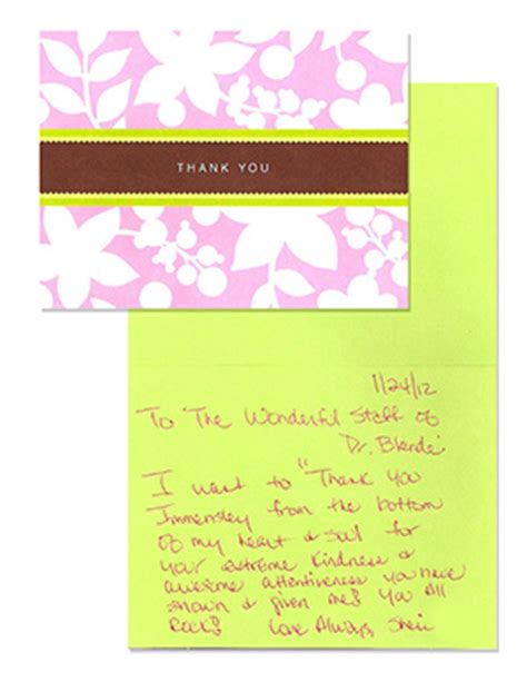 Thank You Note For Dental Blende Dental Reviews Patient Testimonials San Francisco Special Needs Emergency