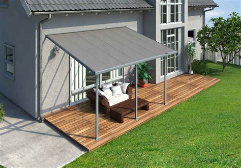 Palram Patio Covers by Palram Feria 10x14 Patio Cover Gray Free Shipping