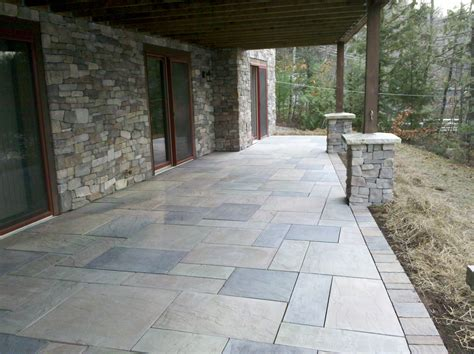 Patio Concrete Pavers Concrete Paver Patios 171 Defranco Landscaping