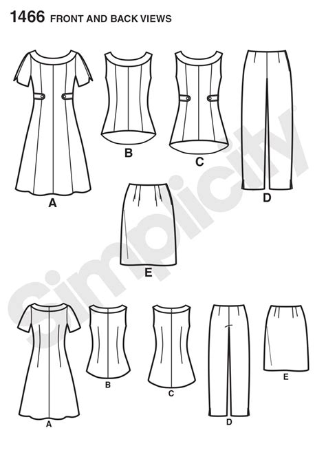 pattern review top ten simplicity 1466 misses plus dress tunic or top skirt