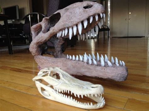 How To Make A Paper Mache Dinosaur Sculpture - paper mach 233 dinosaur skull alligator skull tutorial