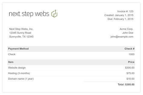 github nextstepwebs simple html invoice template a