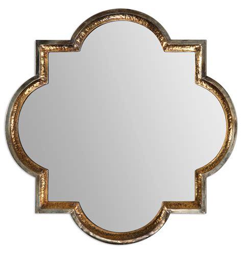 metal frame wall mirror gold quatrefoil mirrors gothic