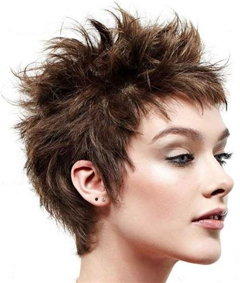 short spiky haircuts for round face women womens short short spiky haircuts hairstyles for women 2018 page 8