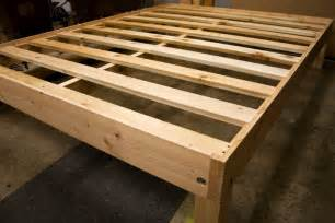 Real Wood Bed Frames Diy Platform Bed Frame Woodworking Projects