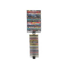 Dvd Rack Wall Atlantic Media Stix 60 Cd Or Dvd Wall Mount Rack Black