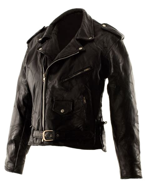 Patchwork Leather Jacket - sz large classic design patchwork leather motorcycle