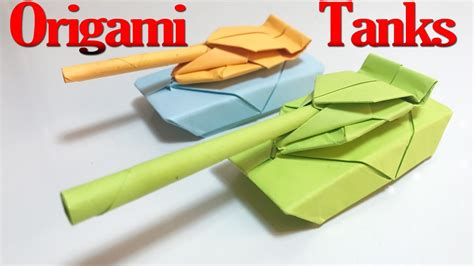 How To Make A Origami Tank Step By Step - how to make a origami tank step by step tutorial origami