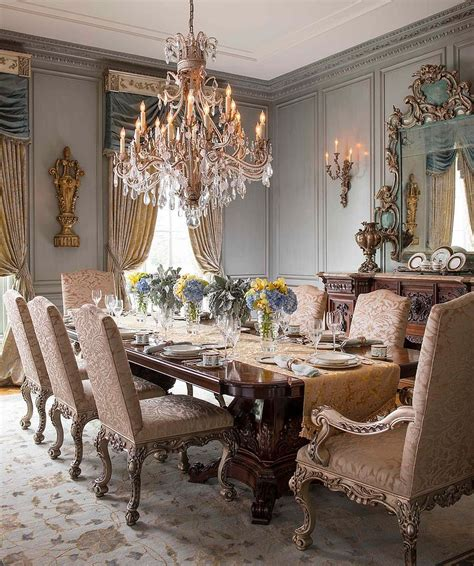 dining room designs with simple and elegant chandilers 15 majestic victorian dining rooms that radiate color and