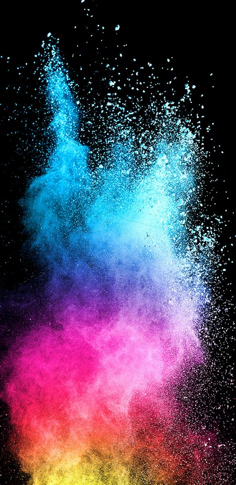 abstract colorful powder  dark background  samsung