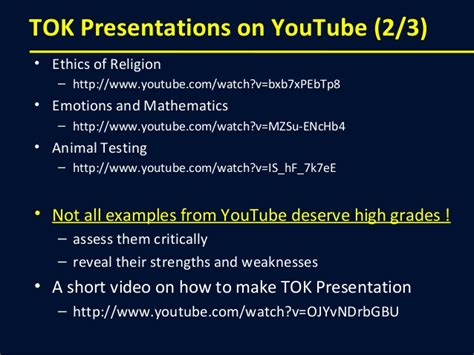 Theory Of Knowledge Presentation Powerpoint Thesisprinters Web Fc2 Com Exles Of Tok Presentations