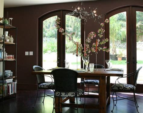accent wall paint ideas dining room brown accent wall for dining room decorating ideas