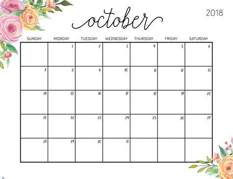 october 2018 calendar us calendar template letter format printable