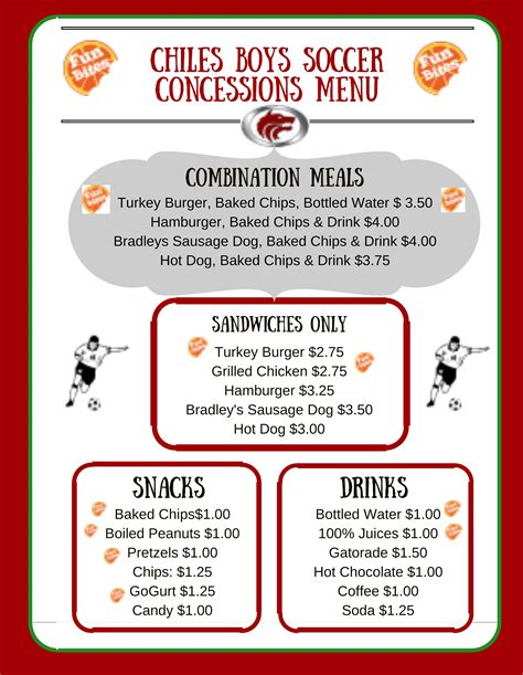 concession menu template healthy concession stands 187 living well in the panhandle