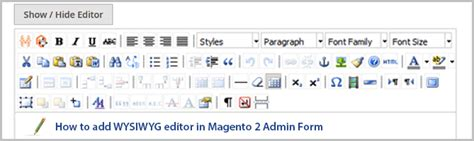 magento theme editor wysiwyg how to add wysiwyg editor in magento 2 admin form