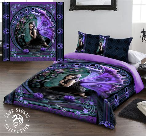 gothic bed sets anne stokes naiad king size bed duvet cover set goth rock